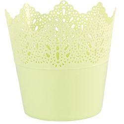 Osłonka plastikowa koronka 11,5 cm, zielony marki 4home