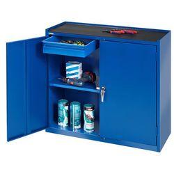 Szafka warsztatowa SERVE, 2 szuflady, 900x450x950mm, niebieski, 202751