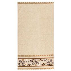 4home Florentyna ręcznik kąpielowy fiora beżowy, 70 x 140 cm, kategoria: ręczniki