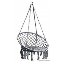 Goodhome Wiszące krzesło brazylijskie szare (5903089063728)