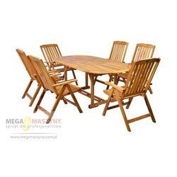 HECHT Zestaw mebli ogrodowych stół + 6 krzeseł Leader Set