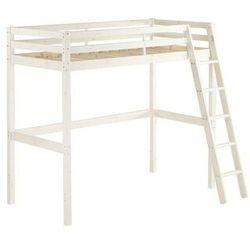 Łóżko antresola GEDEON - 90 × 190 cm - Lite drewno sosnowe - Bielone