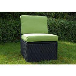 Fotel Garth polyrattan z poduszkami zielone