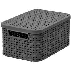 Koszyk do przechowywania CURVER POLAND Style Box S V2 + LID - DRG308 Ciemny szary + Zamów z DOSTAWĄ JUTRO!