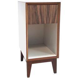 Szafka Nocna PIX 30cm - biała/front drewniany