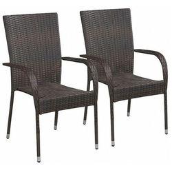 Elior Zestaw brązowych krzeseł ogrodowych - nelly