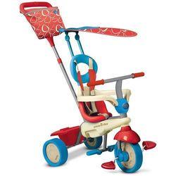 Smart trike Rowerek trójkołowy  4 w 1 vanillia touch steering czerwono-niebieski + darmowy transport!