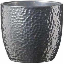 Osłonka doniczki SK Soendgen Keramik Boston śr. 16 cm srebrna