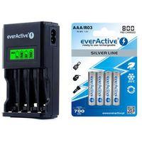 Ładowarka  nc-450 black + 4 x r03/aaa everactive 800 marki Everactive