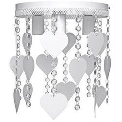 Plafon LAMPA sufitowa CORAZON MLP 1148 Milagro okrągła OPRAWA dziecięca serca crystal białe