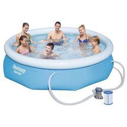 Bestway fast set 57272 framed/inflatable pool runda 3178l niebieski basen zewnętrzny naziemny (6942138928877)