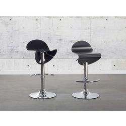 Hoker czarny - hoker barowy - krzesło barowe -liverpool od producenta Beliani