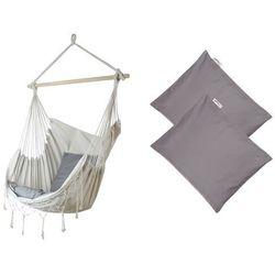 Fotel hamakowy z poduszkami HP, ecru-szary HC-7 + HP - 111