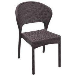 Krzesło ogrodowe z technorattanu Daytona Siesta brązowe z kategorii krzesła ogrodowe