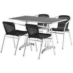 Aj produkty Zestaw – prostokątny stół kawiarniany + 4 krzesła
