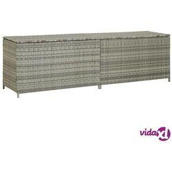 skrzynia ogrodowa z polirattanu, 200 x 50 x 60 cm, szara marki Vidaxl