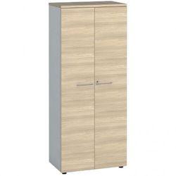 Szafa biurowa z drzwiami, 1781 x 800 x 420 mm, biały/dąb naturalny marki B2b partner