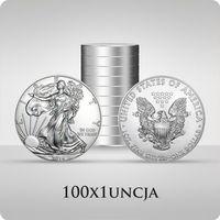 Amerykański Orzeł 1 uncja srebra x 100