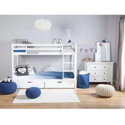 Łóżko piętrowe drewniane białe 90 x 200 cm RADON (4260586356786)