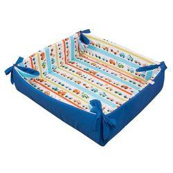 Glück Baby, Kojec, mata do zabawy z mikrofibrą Autka, Niebieska, 155x45 cm - produkt z kategorii- Kojce