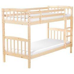 Łóżko piętrowe drewniane jasnobrązowe 90 x 200 cm REVIN (4260586356717)
