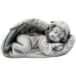 Figura ogrodowa betonowa śpiący aniołek 6cm