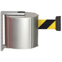 Kaseta z pasem, z aluminium, przykręcany z zaciskiem ściennym, kolor pasa: czarn