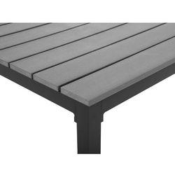 Stół ogrodowy szary 95 x 95 cm PRATO