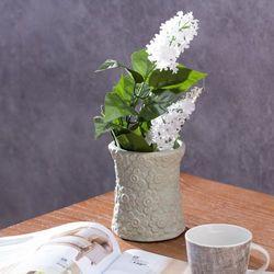 Dekoria  wazon flowers pistacja wys.12cm, 12cm