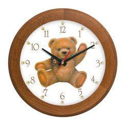 Zegar drewniany rondo miś, ATW301M1
