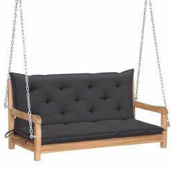 Drewniana huśtawka z antracytową poduszką - paloma 2x marki Elior