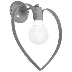 Milagro Kinkiet lampa ścienna amore 9821 dziecięca oprawa dekoracyjna serce heart szare (5907565998214)