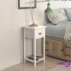 vidaXL Szafka nocna z szufladą, biała (8718475933625)