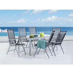 Beliani Aluminiowe meble ogrodowe dla 6 osób catania (7081453510462)