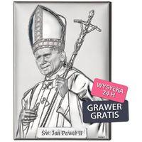 Valenti & co Jan paweł ii papież obrazek srebrny grawer gratis!