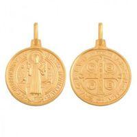 Rodium Złoty medalik - 39502 - pr.585