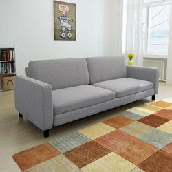 vidaXL Kanapa sofa 3 osobowa jasnoszara (8718475910237)