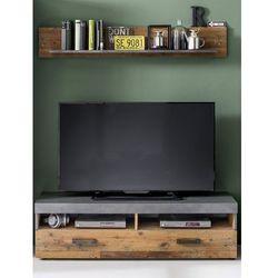 Szafka RTV INDIA folia drewno postarzane 139/41/40 cm