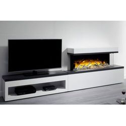 Flamerite fires - nowość 2021 Kominek wolnostojący flamerite fires tropo 1000 link z szafką pod tv. efekt płomienia radia flame - promocja