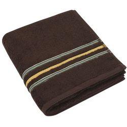 Bellatex Ręcznik kąpielowy Zuzka ciemnobrązowy, 70 x 140 cm
