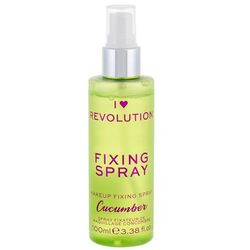 i heart revolution fixing spray cucumber utrwalacz makijażu 100 ml dla kobiet marki Makeup revolution london