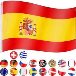 Flagmaster ® Flaga hiszpanii hiszpańska 120x80 cm na maszt hiszpania