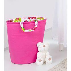 Mamo-tato dwustronny kosz na zabawki ciemny róż / słoniaki róż
