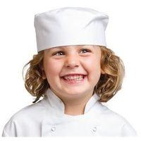 Dziecięca krótka czapka kucharska | biała