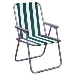 Happy green krzesło plażowe, zielone pasy