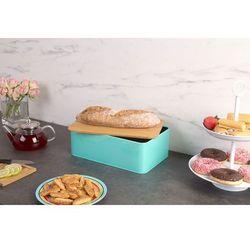 Metalowy chlebak z deską do krojenia, 2w1 marki Eh excellent houseware