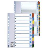 Przekladki numeryczne  mylar a4/1-10, kolor 100161, marki Esselte