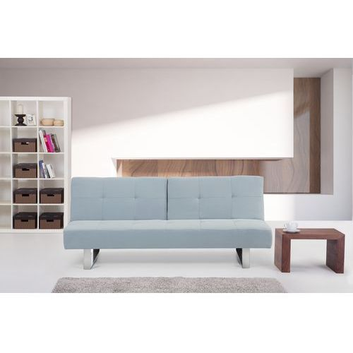 Rozkladana sofa ruchome oparcie - DUBLIN jasny niebieski (sofa)