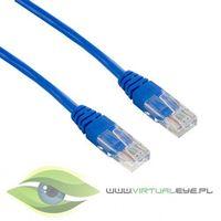 4World kabel krosowy RJ45, bez osłonki, Cat. 5e UTP, 1 m, niebieski (04717) Darmowy odbiór w 19 miastach!, 4
