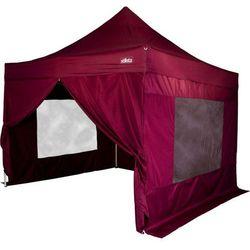 Namiot ogrodowy, handlowy, party STILISTA automatyczny 3x3m + 4 ściany- czerwony burgundowy